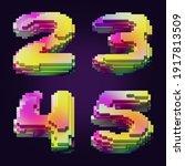 3d rendering of colorful... | Shutterstock . vector #1917813509
