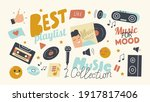 set of icons best playlist for... | Shutterstock .eps vector #1917817406