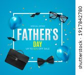 father s day sale background. ... | Shutterstock .eps vector #1917842780