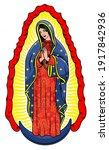virgin of guadalupe. the virgin ... | Shutterstock .eps vector #1917842936