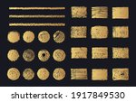 golden round and rectangular... | Shutterstock .eps vector #1917849530