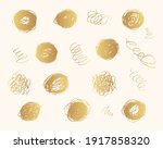 hand drawn golden pencil... | Shutterstock .eps vector #1917858320