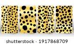set of leopard print. panther...   Shutterstock .eps vector #1917868709