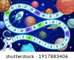 kids board game with astronaut... | Shutterstock .eps vector #1917883406