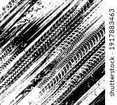 car tires traces  wheel... | Shutterstock .eps vector #1917883463