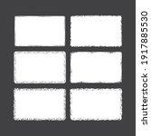 rough borders set.rectangular... | Shutterstock .eps vector #1917885530
