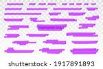 purple highlighter lines set...   Shutterstock .eps vector #1917891893