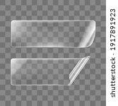 transparent glued rectangle... | Shutterstock .eps vector #1917891923