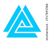 a simple blue triangle icon...   Shutterstock . vector #1917892586