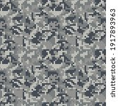 digital gray camouflage ... | Shutterstock .eps vector #1917893963