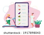diet doctor consulting concept  ... | Shutterstock .eps vector #1917898043