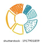 pie diagrams hand drawn icons.... | Shutterstock .eps vector #1917901859