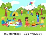 kids have fun and play in...   Shutterstock .eps vector #1917902189
