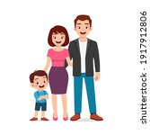 cute little boy with mom and...   Shutterstock .eps vector #1917912806