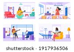 people play guitar and write...   Shutterstock .eps vector #1917936506