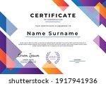 abstract certificate design... | Shutterstock .eps vector #1917941936