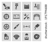 auto car service icons set of...   Shutterstock . vector #191794688