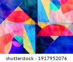 bright multi colored retro... | Shutterstock . vector #1917952076