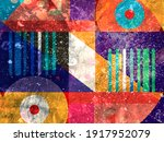 bright multi colored retro... | Shutterstock . vector #1917952079