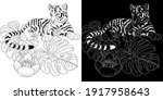 art therapy coloring page.... | Shutterstock .eps vector #1917958643