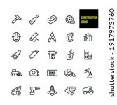 construction icons stock... | Shutterstock .eps vector #1917973760