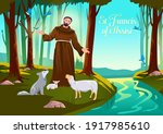 st francis of assisi vector... | Shutterstock .eps vector #1917985610