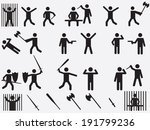 people with lethal weapons set... | Shutterstock .eps vector #191799236