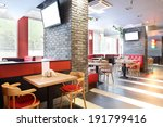 Stock photo beautiful brand new european restaurant in downtown 191799416
