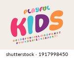 playful style font design  kids ... | Shutterstock .eps vector #1917998450
