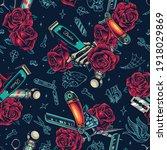 barbershop vintage colorful... | Shutterstock .eps vector #1918029869