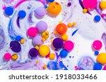 fluid art texture. abstract... | Shutterstock . vector #1918033466