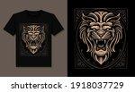 King Lion Head T Shirt...
