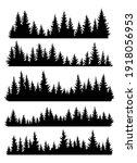 set of fir trees silhouettes.... | Shutterstock .eps vector #1918056953