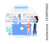 vector cartoon flat patients... | Shutterstock .eps vector #1918094663
