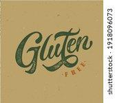 gluten free typography vector...   Shutterstock .eps vector #1918096073