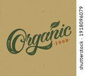 organic food typography vector...   Shutterstock .eps vector #1918096079