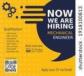 job recruitment mechanical...   Shutterstock .eps vector #1918100813