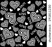 Black And White Seamless Heart...