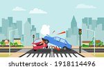 accident  collision of two cars ...   Shutterstock .eps vector #1918114496