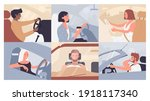 people travel  drive auto on... | Shutterstock .eps vector #1918117340