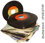 Pile Of 45 Rpm Vinyl Records...