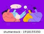 negotiations  brainstorm ... | Shutterstock .eps vector #1918155350