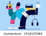 multitask  management ... | Shutterstock .eps vector #1918155383