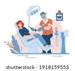 oral health checkup of dentist... | Shutterstock .eps vector #1918159553