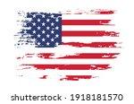 vector usa flag.grunge flag of... | Shutterstock .eps vector #1918181570
