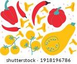 vegetables set ingredients for... | Shutterstock .eps vector #1918196786