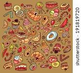 doodle cake background | Shutterstock . vector #191819720
