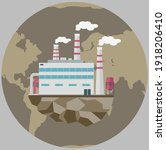 manufacture pollutes atmosphere ... | Shutterstock .eps vector #1918206410