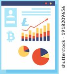 bitcoin with growth graph and... | Shutterstock .eps vector #1918209656