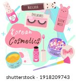 vector beauty set. makeup... | Shutterstock .eps vector #1918209743
